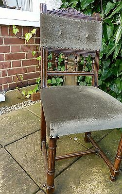 6 Antique French provincial dining chairs