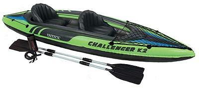 Intex 68306 Challenger K2 Kayak Hinchable Barca Inflable Remos Canoa