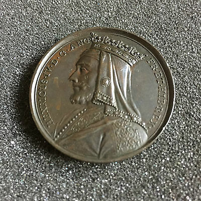 1731 Henry IV 41mm Bronze Commemorative Medal By Jean Dassier No 15 in Series