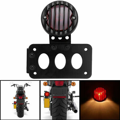 Motorcycle License Plate Side Mount Bracket W/ Rear Tail Brake Light For Harley