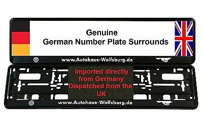 VW AUDI Wolfsburg Number Plate Surrounds  X 2 GTI R32 - K