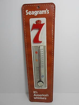 Seagram's 7 Whiskey Thermometer Advertising Display