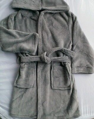 CHILDS HOODED BATHROBE_Dressing Gown_Boys Girls_6 to 7 yr old_Fleece-Clothing