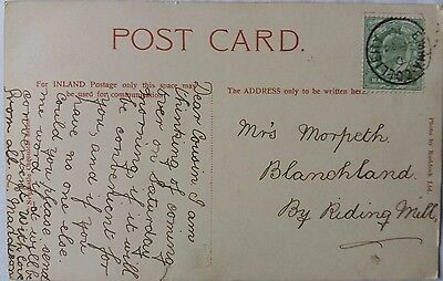 Great Britain 1910 Newcastle Picture Post Card With Emma Colliery Postmark