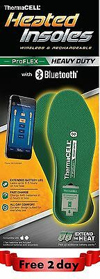 Thermacell PROFLEX Heavy Duty Heated Insoles Bluetooth Boot Shoe 7.5- 11 X-Large