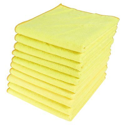 Yellow Microfibre Towels (Yellow Rag) Race-team Home Kitchen Car Valeting Duster