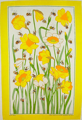 Daffodils And Bees Ulster Weavers Linen Tea Towel - Daffy Bees, floral, flowers