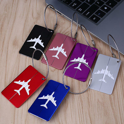 Stainless Steel Travel Plane Luggage Baggage Tag Suitcase Identity Address Name
