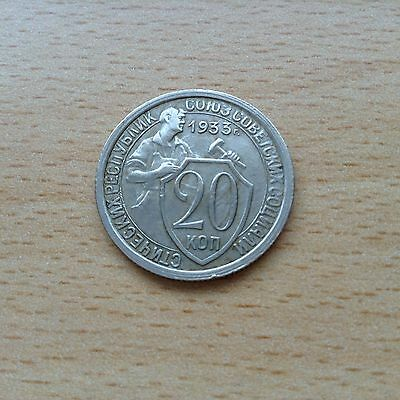 1933 20  Kopecks Coin Cccp Good Grade