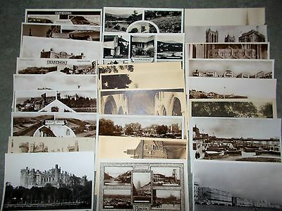 Scenic Postcards 1950's & 1960's Job-Lot (50+ cards)