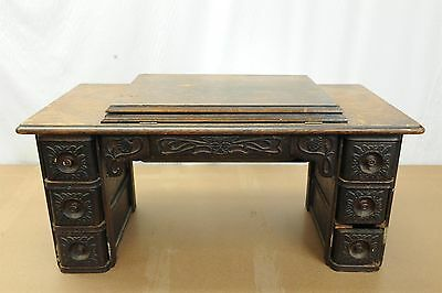 ..antique Singer Treadle Sewing Machine Wood Top With Center Drawer..
