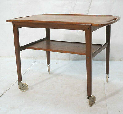 Midcentury Danish Bar Cart with removable Top Tray