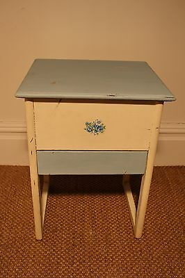 Vintage Sewing Box / Craft Box / Storage Table - Shabby Chic