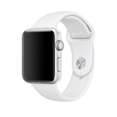 Apple Watch Sport Band (S/M & M/L sizes) in white, new & Apple original