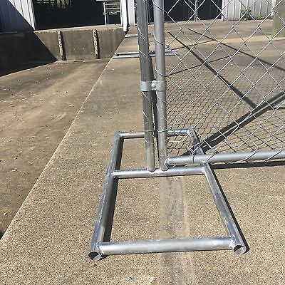 Stands/Feet for Temp Fence or Construction Rent-A-Fence, Super Heavy Duty Steel