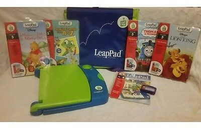 Leap Pad leapfrog learning system Console Books Case & Cartridges.  Christmas