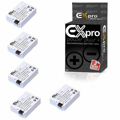 Ex-Pro Camera Battery LP-E8 1400mAh for Canon EOS 550D 600D 650D 700D X4 x5 Pack