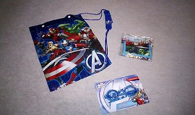 Marvel Avengers swim bag, wallet and goggles! Brand new!