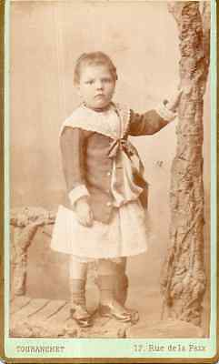 CDX1499 Carte De Visite Cdv Touranchet Enfant Mode
