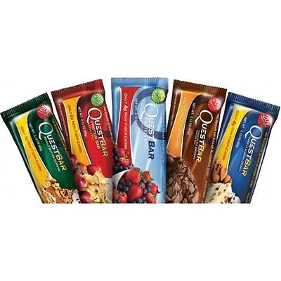 Quest Nutrition Protein Bars 12 x 60g - Chocolate & All Flavours! (Nov Dated)