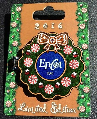 Disney Pin Epcot Gingerbread House 2016 Chef Mickey Gingerbread House New Epcot