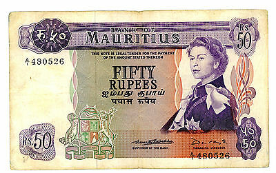 Mauritius ... P-33 ... 50 Rupees ... ND(1969) ... *F*