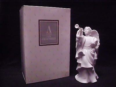 Avon Nativity Collectibles Gabriel White Porcelain Bisque Figurine Angel W/ Horn