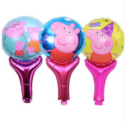 Lot Peppa Pig Inflatable Air Hand Balloons Birthday Party Decorations Supply UK