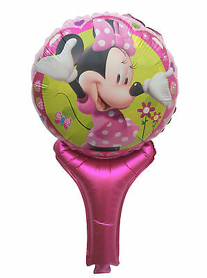 Lot Minnie Mouse Inflatable Air Hand Balloons Birthday Party Decorations Supply