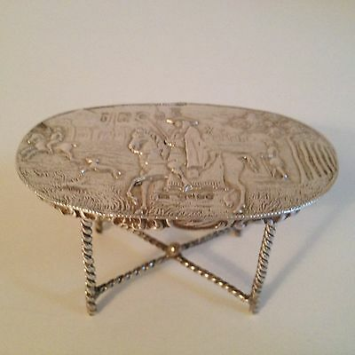 Antique Sterling Silver Minature Table - London 1881