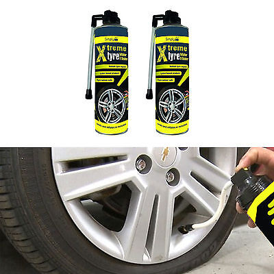 2 x Tyre Weld Tire Seal 500ml Emergency Repair For Ssangyong Korando Cabrio