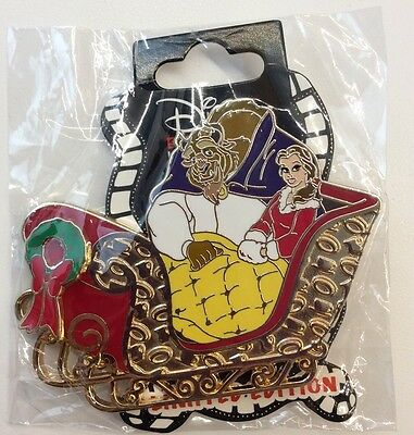 Disney Pin DSF Disney's Soda Fountain Belle Beauty And The Beast Christmas Pin