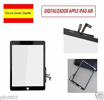 Pantalla Tactil Para Ipad Air Negra Digitalizador Touch Screen + Adhesivo