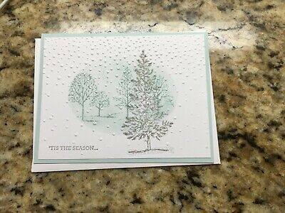 Handmade Christmas Card Joy With Holly And Berries Using Stampin