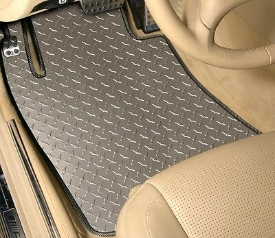 3-Piece Set - DIAMOND PLATE - Vinyl Floor Mats - CUSTOM - GMC Pickups