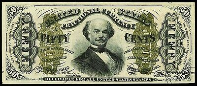 1864 - 1869 Fifty Cents Fractional Currency 3Rd Issue Choice Cu Note Fr #1324