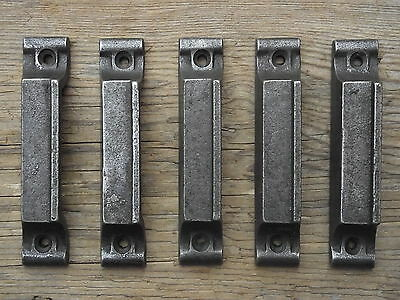 5 Victorian Vintage Style Cast Iron Rimlock Door Keeps lock knobs door pine pull