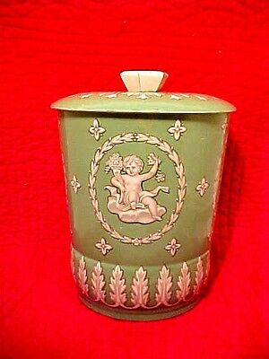 Vintage George W. Horner & Company England Round Tin Canister RARE Angel Cherub