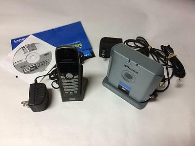 Linksys Cordless Dual-Mode Internet Telephony Kit Cit300 Skype Home Phone