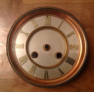 Vintage Brass Clock Glass Frame Face Chapter Ring 134mm Ex Clockmakers Spares