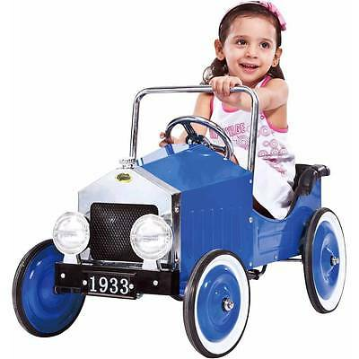 Kids' Voiture Classic All Metal Pedal Car  Pink (or Blue) Ages 3-7
