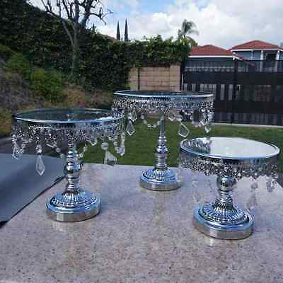3 Piece Silver Cake Stands