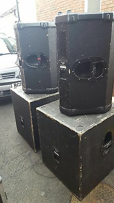 Mackie S408 & S410s PA System Speakers and Subwoofers