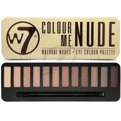 W7 Eyeshadow Palette - Colour Me Nude - With Applicator Makeup