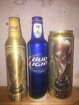 3 BUDWEISER Bud Light FIFA WORLD CUP Rise As One Bottles And Can