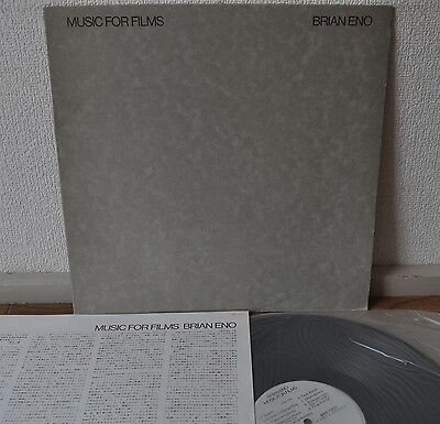 Brian Eno Music For Films Japan LP MPF 1203 Polydor 1978 Insert