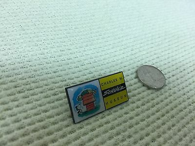 Peanuts Charles M Schulz Museum Donor Pin Snoopy Woodstock Charlie Brown • 2012