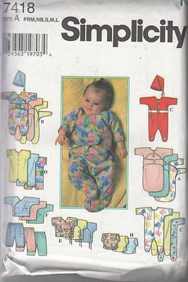 Simplicity BABIES & PREEMIES LAYETTE SEWING PATTERN - Size 0 - 24 lb. - NEW