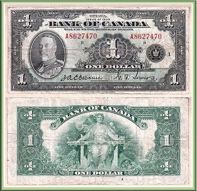 1935 $1 King George V Bank of Canada Series A.