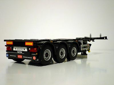 Wsi Truck Models,container Trailer 3 Axle(Extendible),1:50
